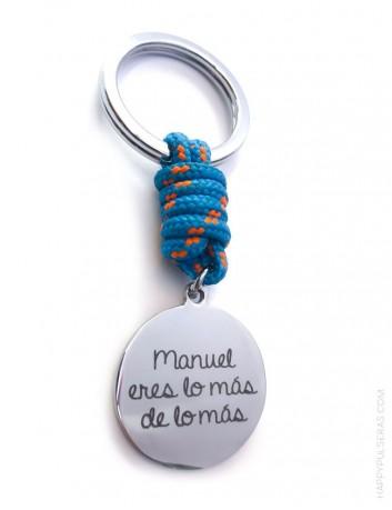 compra este llavero con tu nombre como regalo original para hombre, a elegir entre muchos colores.