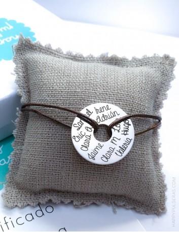 jewerly online pulsera plata para grabar texto que quieras a elegir color del cordón encerado