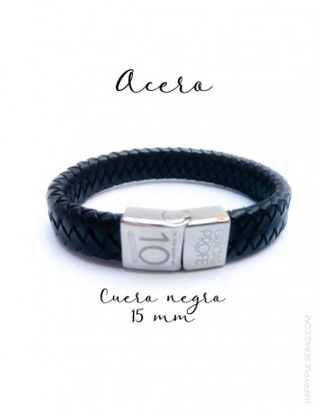 regalo original para hombre, pulsera cuero personalizada- Regalos para papá originales- happypulseras.com