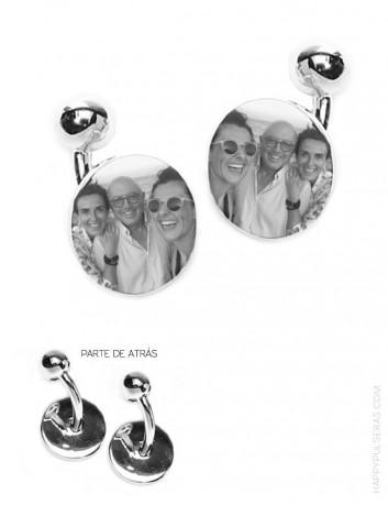 Regalo original para bodas gemelos de plata con foto