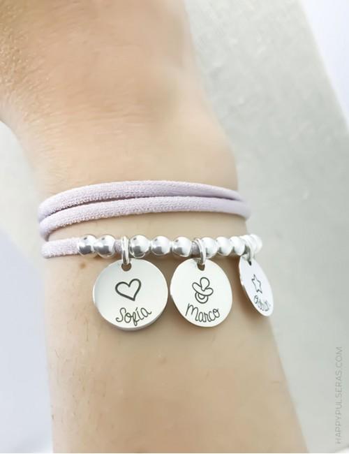 Collar pulsera que puedes usar tanto para el cuello como en la muñeca como pulsera de doble vuelta. Rosa palo. Más colores.