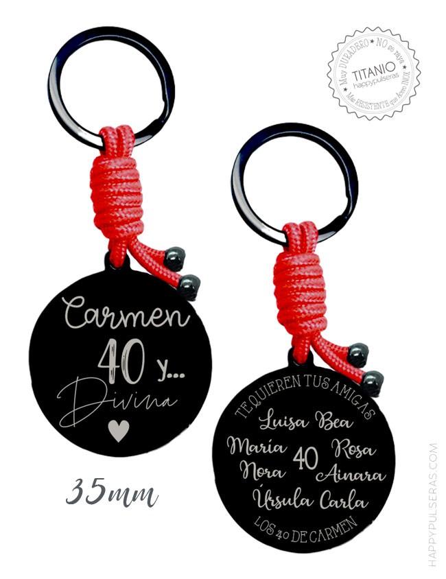 llaveros online- Llaveros grabados y joyería personalizada- Happypulseras.com- Regalo cumpleaños original.
