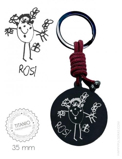 llaveros online, llaveros grabados con dibujos de niños, llaveros personalizados- Happypulseras.com