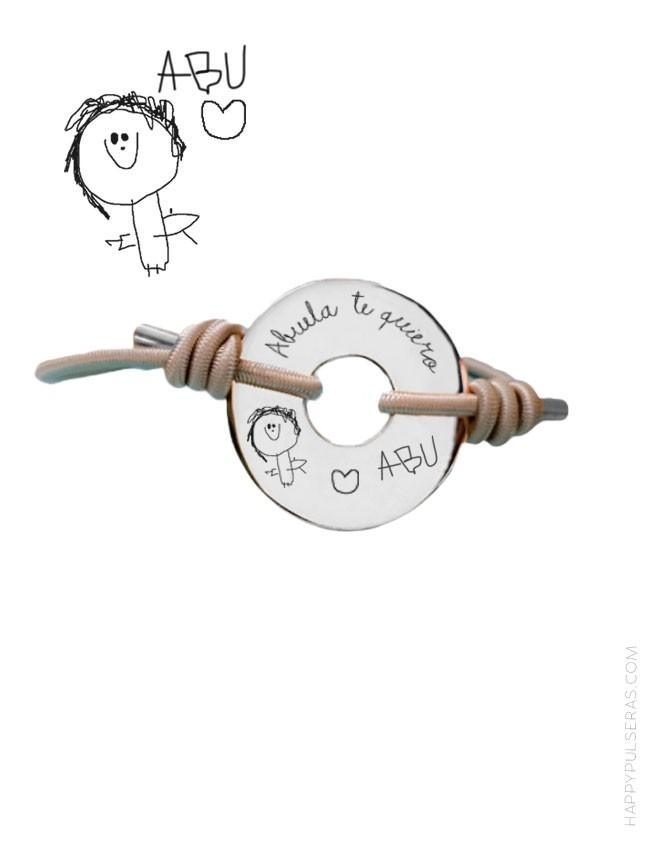 Pulseras personalizadas de plata de happypulsereas.com bisutería artesanal de regalos personalizados- madrid Valladolid
