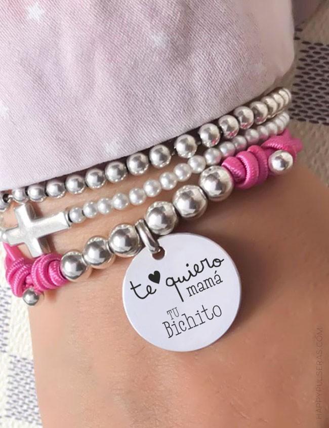 Happypulseras online joyería de bisutería artesanal y regalos personalizados. Medallas de plata con mensaje.