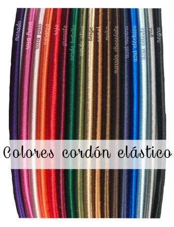 Colores de elástico disponibles para las pulseras de acero grabadas con mensaje