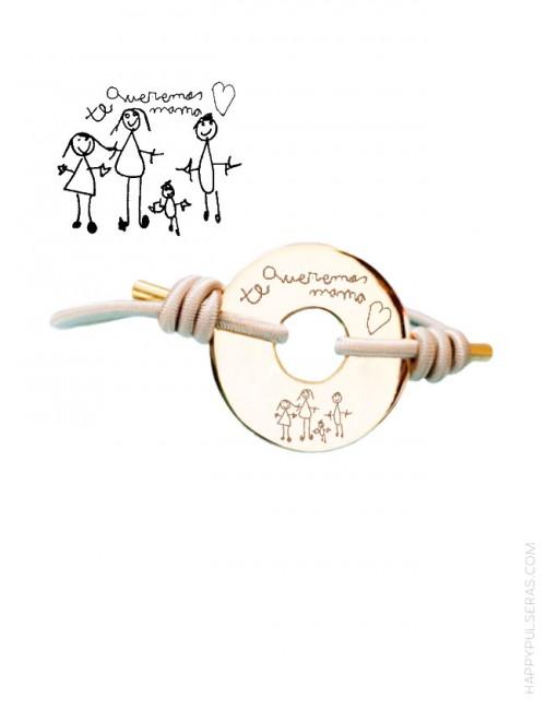 Graba un dibujo de tu hijo sobre una pulsera- su dibujo convertido en joya- Happypulseras.com