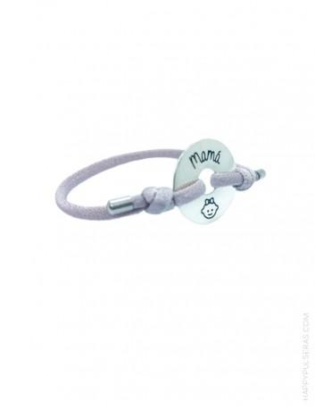 pulseras de plata para regalar a mamá. Colección mamá...en happypulseras.com- Regalos para nacimientos