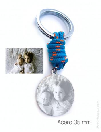 llavero personalizado para papá grabado con foto- Idea de regalo original par el día del padre- happypulseras.