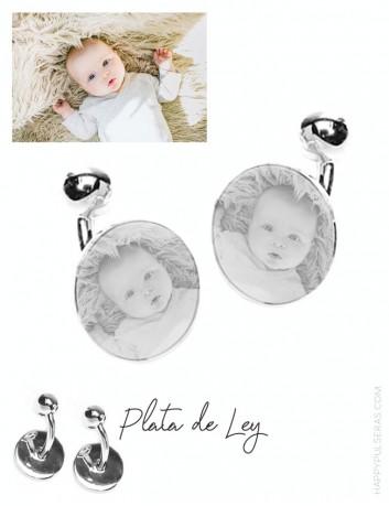 Gemelos personalizados para papá, grabados con una foto en happypulseras.com