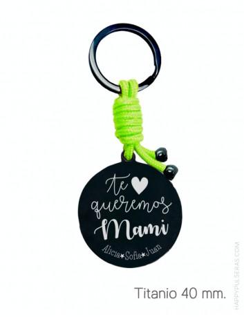 llavero personalizado para mamá, con una dedicatoria molona que Happypulseras te diseña