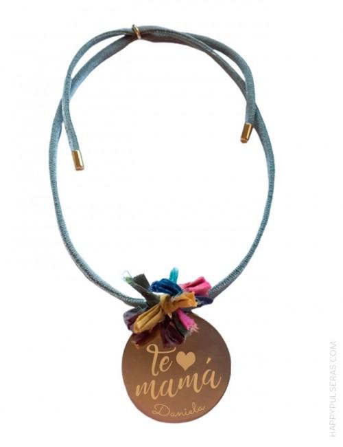 Collar con medalla personalizada para MAMÁ, regala un collar a mami con su nombre- Happypulseras