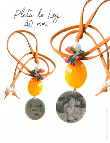 Regala a mami un collar de plata original con vuestra foto grabada en la medalla... Ideal