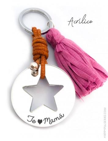 llavero mamá personalizado con la dedicatoria que te guste- regalos ideales para mamá en Happypulseras