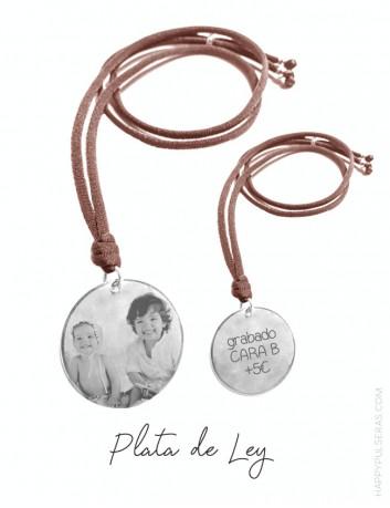 Medalla para grabar la foto de tus hijos y ponértela de colgante- Expertos en grabado de foto HAPPYPULSERAS.