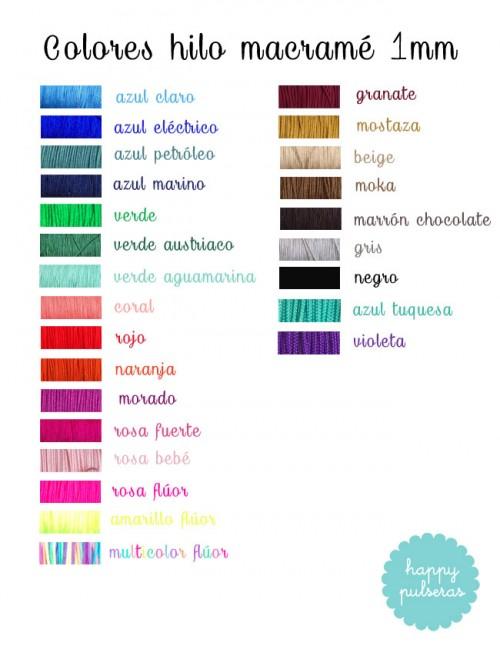 Elige el color que más te guste para tu pulsera de árbol de la vida de happypulseras