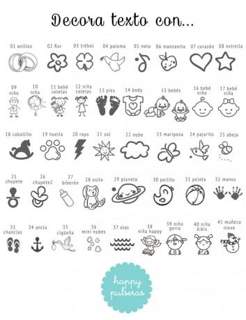El texto puedes acompañarlo con estos iconos, o algún otro que te guste y nos envíes.
