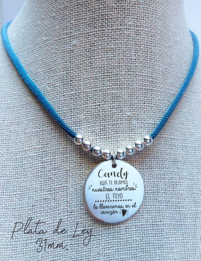 Medalla de plata personalizada para profesores. Regalos originales personalizados para maestros - happypulseras