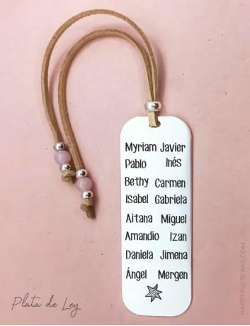 Un regalo original para profesores con los nombres de todos los alumnos. Regalo práctico personalizado en Happypulseras