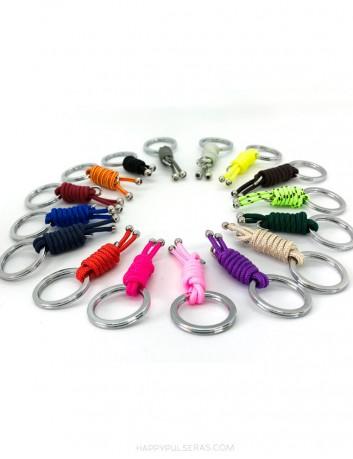 En Happypulseras te ofrecemos una amplia gama de colores de cuerda náutica para tus llaveros personalizados
