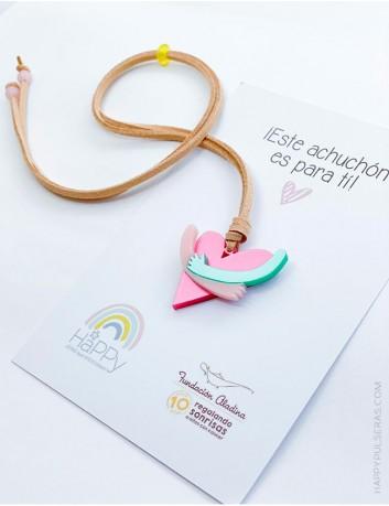 Colgante solidario Fundación Aladina y Happypulseras, todo irá destinado a ayudar a niños con cáncer de la fundación.