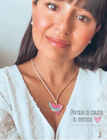 Regala este collar solidario y estarás ayudando a los niños con cáncer de la fundación Aladina. Sólo 15 euros. Happypulseras.