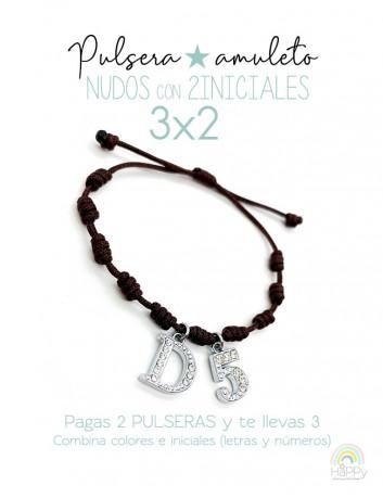 Oferta Pulseras de la suerte!!! Pulseras nudos Happy Iniciales 3x2- Happypulseras