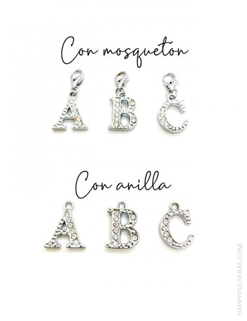 Añade un charm INICIAL para decorar tu pulsera y personalizarla sólo para tí. Happypulseras.