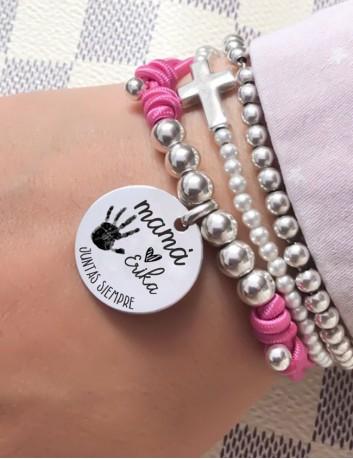 Pulseras de plata para pulseras grabadas con huellas reales- Todo en tu joyería online especializada en grabado, Happypulseras