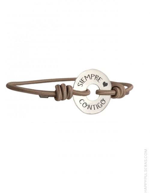 Pulsera mítica en nuestra tienda online de bisutería artesanal y regalos personalizados- Donut plata personalizado para parejas