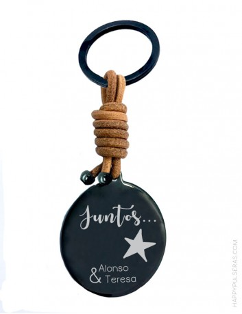 Llaveros personalizados para parejas en Happypulseras-Joyería online de piezas artesanales personalizadas