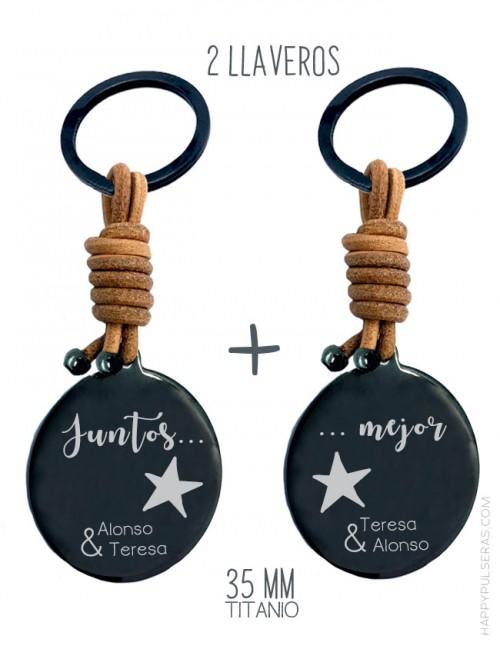 Llaveros personalizados para regalar en San Valentín-Oferta-pack-de-dos-Happypulseras