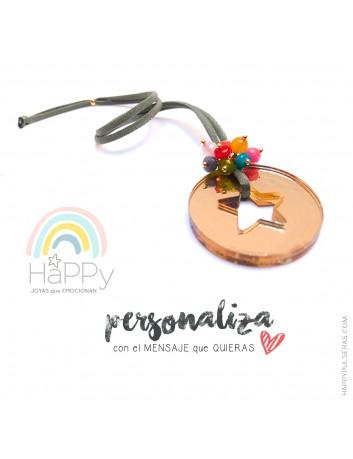Personaliza tu colgante estrella- Diseño exclusivo de Happypulseras- Colgantes personalizados
