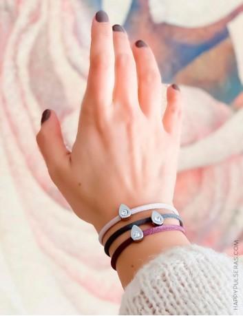 Elige el color que más te guste para esta pulsera, si coges 3 pulseras, sólo pagas 2 y puedes combinar colores!! Happypulseras