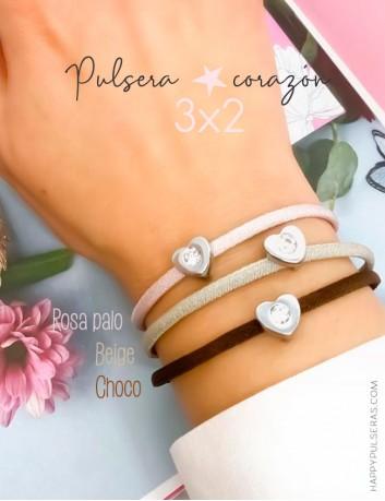 Disfruta de nuestra super oferta!! pagas 2 pulseras corazón y te llevas 3, combina colores- Happypulseras