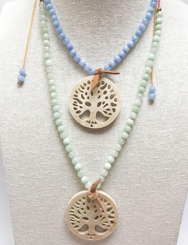 53f4df537b35 collar árbol de la vida con piedras naturales en colores pastel.