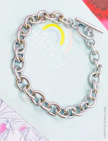 Pulsera de acero Happy para poner abalorios- Personaliza tu pulsera con Happy charms.