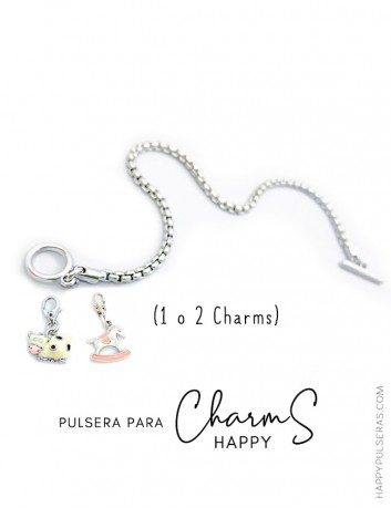 Base de pulsera para añsir Charms decora como quieras- Happy