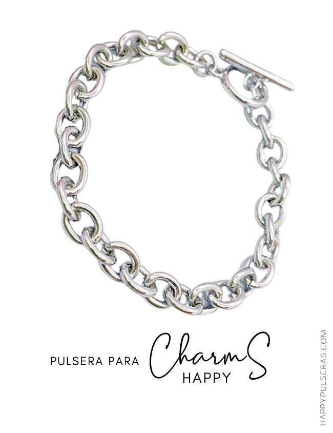Pulsera de acero para añadir nuestros famosos happy charms- Ofertas en Charms Happy