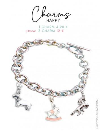 Pulseras Happy con charms de animales y naturaleza. Muchas temáticas- Happypulseras