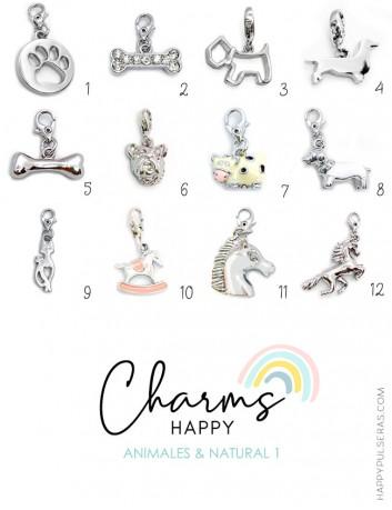 Happy Charms de animales y naturaleza para decorar tus pulseras happy. Ahora en oferta los Happy Charms