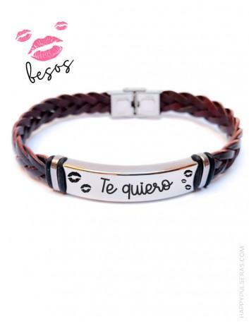 Regala pulseras de cuero con grabados muy especiales en tu joyería online Happy