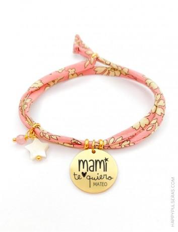 Regalos para mamá ideales. En Happypulseras personalizamos estas pulseras liberty para mamá.