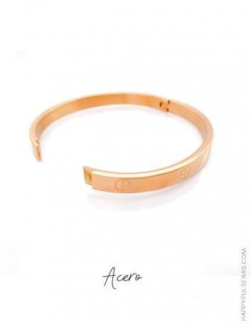 Descubre nuestros brazaletes de acero y aprovecha la oferta comprando 3 unidades- tono rosado-Happypulseras