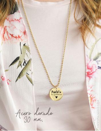 Regalos para profesoras personalizados, collares largos con dedicatorias - Happy, joyería online