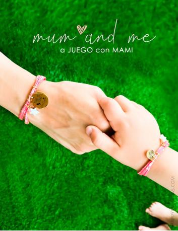 Pulseras liberty flores a juego para madre e hija, presonalizadas,