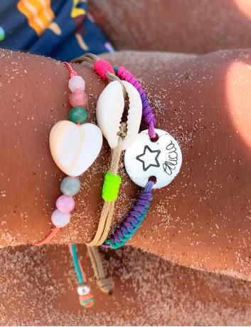 Pack de pulseras Happy  de moda para verano. Personaliza con tu nombre- Happypulseras