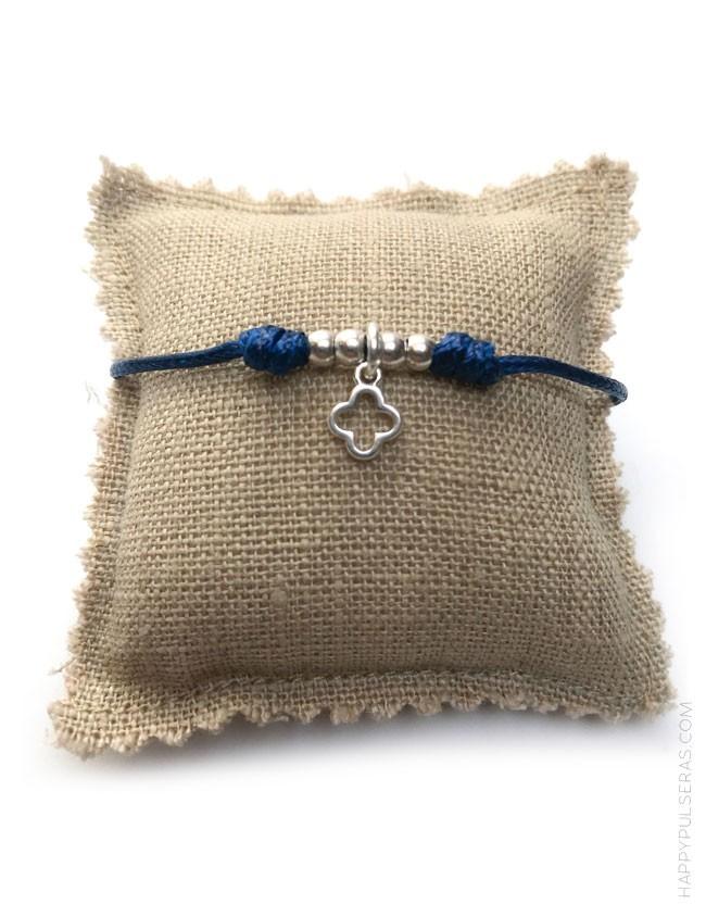 bdaf20fc4524 Pulsera cordón algodón con cruz griega hueca