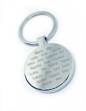 regalo para hombres, llavero con dedicatoria personalizada y nombres de los niños grabados