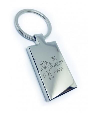 regalo para hombres llavero de acero rectangular con dibujo personalizado de un niño regalo original